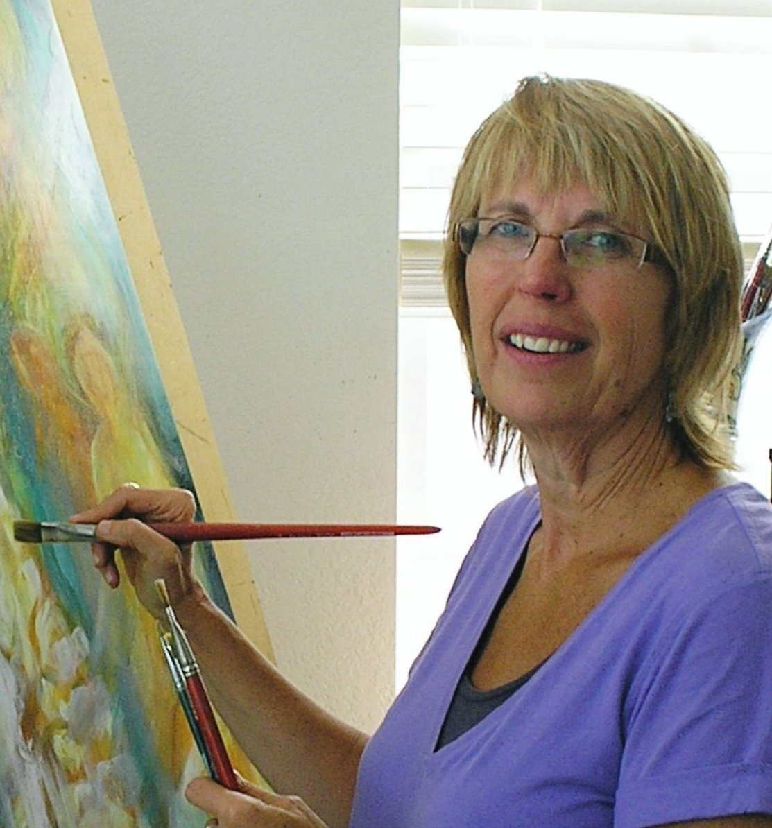 Teresa Dunwell in the Studio